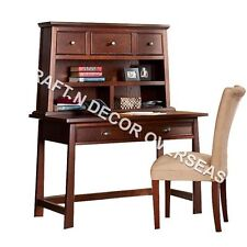 Comtempory Writing Table of Shesham Wood Size 120 X 135 X 55 Cms in Brown Colour