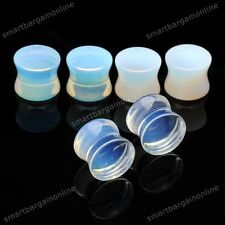 NEU!! Glas Ohr Flesh Tunnel Opal Ohr Plug Piercing Transparent 6/8/10/12/14mm