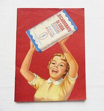 DEPLIANT LIBRETTO PUBBLICITARIO 1954 BICARBONATO SOLVAY COSMETICA FARMACEUTICA
