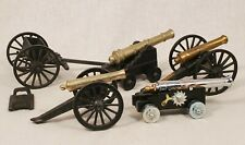 Model Cannons. Brass? & Cast Iron. Toy Civil War Cannons