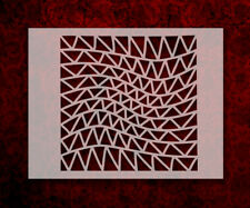 """Triangle Illusion Waves Pattern 8.5"""" x 11"""" Stencil FAST FREE SHIPPING (640)"""