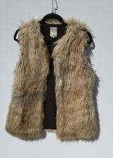 Women's Faux Fur Waist Trafaluc Outerwear Zara Brown Ombre Small/ Medium Vest