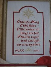 Child of Mary Child Madonna Christmas OOP Magazine Cross Stitch PATTERN (W)