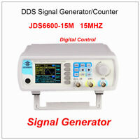 JDS6600-15M Dual Channel DDS Function Pulse Signal Generator 1Hz-100MHz Display