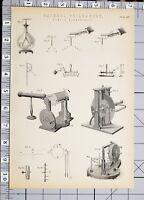 1886 Stampa Naturale Filosofia Elettricità Statica Vari Apparato Esperimenti