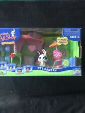 Littlest Pet Shop Bakery Nook Play Set New Retired LPS Rabbit Moving Eyes #4