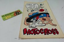 NOS VINTAGE 1970S MOTORCROSS STICKER MX, YAMAHA, KAWASAKI, HONDA ORIGINAL