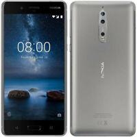 "Nokia 8 Smartphone da 64 GB di Memoria, 5.3"" 2560 x 1440, Android, Acciaio"