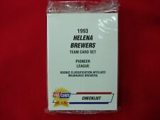 1993 HELENA BREWERS MINOR LEAGUE TEAM SET FLEER PROCARDS FACT. SEALED VERY NICE