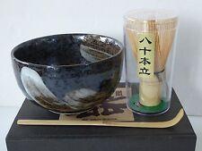 Japanese Tea Ceremony Matcha Bowl, Spoon/Whisk Set/ARAHAKE With Gift Box/ B-1