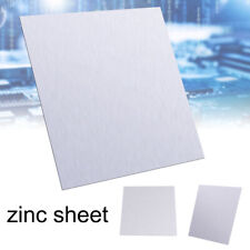 1x High Purity Pure Zinc Zn Sheet Plate Metal Foil For Science 100x100x0.5mm