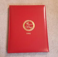 St. Louis Cardinals 1995 Leather Calendar Book - Unused