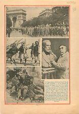 Défilé Croix de Feu Arc de Triomphe Champs-Elysées /Sculpteur 1934 ILLUSTRATION