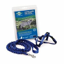 PetSafe COME WITH ME KITTY Cat Harness and Bungee Leash Blue Small