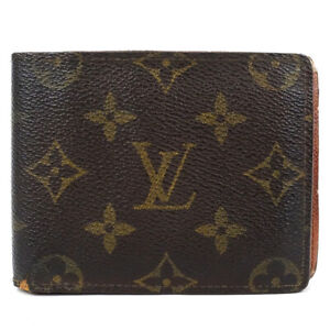 LOUIS VUITTON Porte Billets9Cartes Crédit BifoldBill Compartment Wallet Mon...