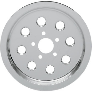 Drag Specialties - 75005S6 - Chrome Outer Rear Pulley Insert Harley-Davidson Ele
