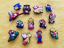 SUPER MARIO BROS w SONIC shoe charms/cake toppers!! Lot of 13! FAST USA SHIPPING