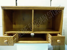 Pottery Barn Kids CAMERON Craft Play table hutch HONEY cabinet wall system shelf
