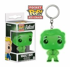 Pocket Pop! Fallout Green Vault Boy Exclusive Glow In The Dark Vinyl Keychain