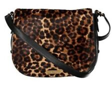 Ralph Lauren Glennmore Larisa leopard print messenger handbag $348. NEW