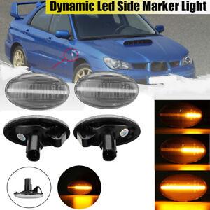 LED Side Marker Indicators Light Lamp Fit For Subaru Impreza Wrx 02-07 Forester