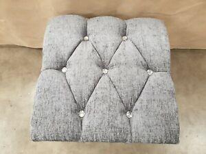Silver gray chenille 18 x18 x 15 ottoman stoole