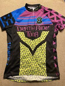 Women's Death Ride Tour Black Purple  Cycling Jersey Large L