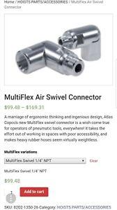 ATLAS COPCO MULTIFLEX AIR SWIVEL (DYNASWIVEL, AIRCRAFT TOOL, DOTCO, SIOUX)