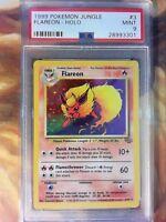 1999 Pokemon Jungle Holo Flareon #3 PSA 9 MINT