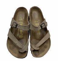 Papillio Birkenstock Mayari Leather Sandals Flip Flops Leather Arizona 37 Brown