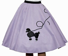 "Lavender FELT Poodle Skirt _ Girl Size MEDIUM (Age 7-9) _Waist 20""- 26"" _ L: 20"""