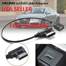 for AUDI VW Ami MMI MDI Interface AUX Music Cable Data Sync Charging Adapter