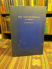 1917 Stowe SIXTY YEARS RECOLLECTIONS OF MILFORD CONNECTICUT Rare Old Book & MAPS