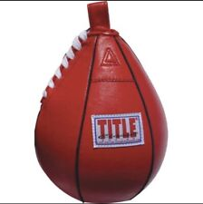 """Title Boxing Leather Speed Bag - Small (5"""" x 8"""") *Pump Not Included*"""