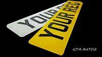 Pair Premium Quality MOT Road Legal Car Van Reg Registration Number Plates