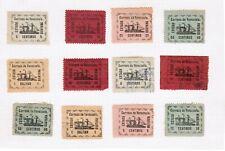 Venezuela 1903 page of Estado Guyana ship stamps, mint & used