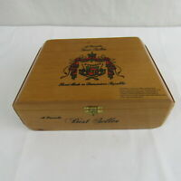 Arturo Fuente Best Seller Empty Wooden Cigar Box Odd Shape Collectible Vintage