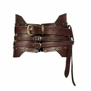 Medieval Wide Belt Knight Armors Viking Pirate Cosplay Costume Unisex 3 Colors