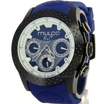 MULCO MEN NUIT MULTIFUNCTION SWISS QUARTZ BLACK STEEL 46mm SILICONE MW5-1962-045