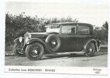 DELAGE 1927 Foto AK Postkarte Photo Photograph Oldtimer Automobil Auto