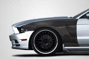 10-14 Ford Mustang GT350 V2 Look Carbon Fiber Body Kit- Front Fenders!!! 115538