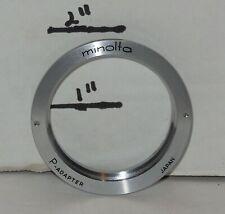 Vintage Minolta P adapter allow M-42 Lenses to Minolta SR Bodies