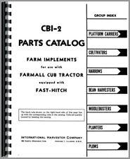 Parts Manual International Farmall Cub Lo Boy Tractor Fast Hitch Attachments