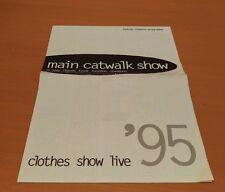 MAIN CATWALK SHOW PROGRAMME CLOTHES SHOW LIVE 1995