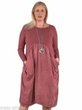 Round Neck Regular Size Dresses for Women with Pockets