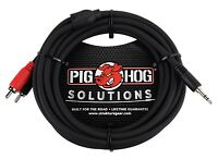 "Pig Hog 10' Stereo Y Cable 3.5mm 1/8"" Headphone jack to RCA - PB-S3R10"