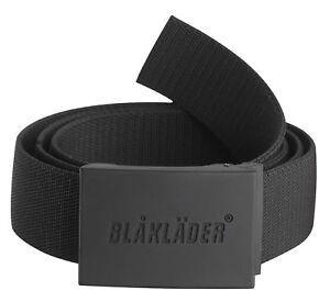 Blaklader Stretch Anti Scratch Work Belt with Logo on Rubberized Buckle - 4038