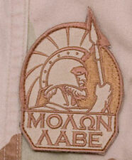 Mil-Spec Monkey Molon Labe Full Morale Patch Desert Hook Back