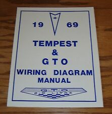 1969 Pontiac Tempest & GTO Wiring Diagram Manual 69