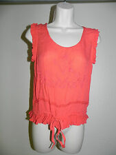 FUN & FLIRT BLOUSE WOMENS XS STYLE 9911 RAYON SLEEVELESS NWT